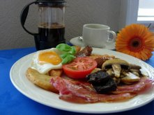 Full English Breakfast at the Esplanade Hotel, Weymouth