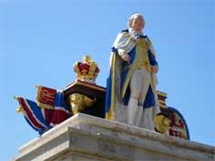 King George III statue in Weymouth